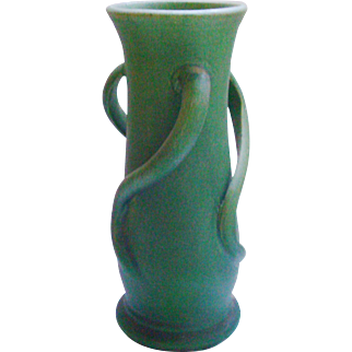 Cambridge Pottery Matte Green Otoe Arts & Crafts Vase