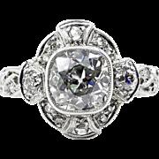 Exceptional Edwardian 2.25ctw Old Mine Cushion VINTAGE ANTIQUE Diamond Wedding ENGAGEMENT Platinum Ring