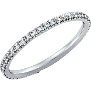Diamond Wedding Band .40ct Round Diamonds Eternity Platinum Ring Wedding Anniversary Band