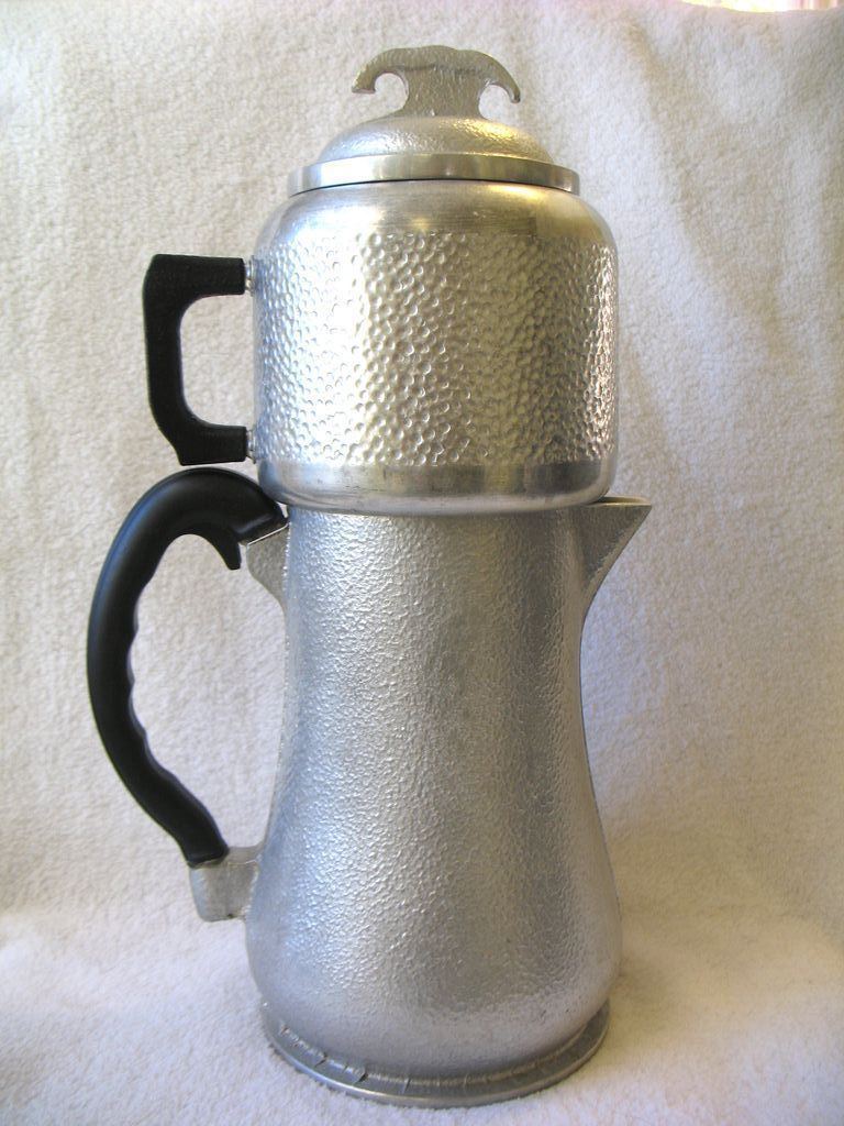 Vintage Guardian Service Hammered Aluminum Coffee Maker