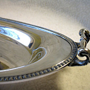 Vintage Derby Silver Bread Tray Handled
