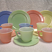 Hazel Atlas Little Hostess China Childrens Pastels 13 Piece Set