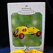 Hallmark Ornament 1941 Garton Speed Demon Die-Cast Metal 2002 Winner Circle Pedal Car
