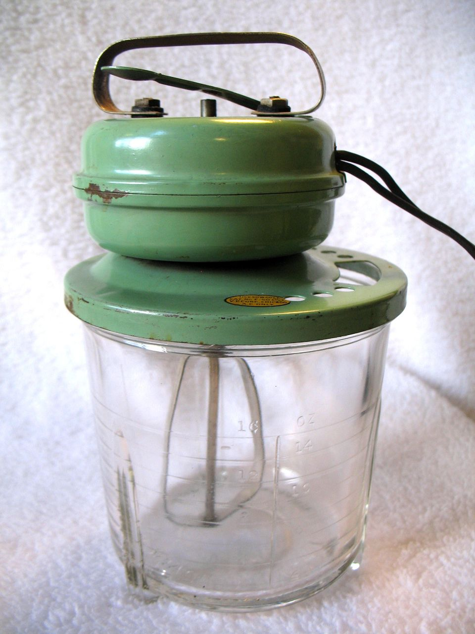 Electric Mixer Beaters ~ Vintage s vidrio electric mixer beater churn egg