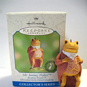 Hallmark Ornament Mr. Jeremy Fisher Frog Beatrix Potter # 5 2000