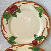 2 Franciscan Apple Earthenware USA Dinner Plates10 5/8""
