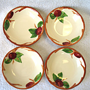 4 Franciscan USA Apple Fruit Dessert Bowl Earthenware 5 1/4""