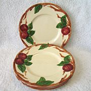 4 Franciscan USA Apple Bread & Butter Plates Earthenware 6 1/2""