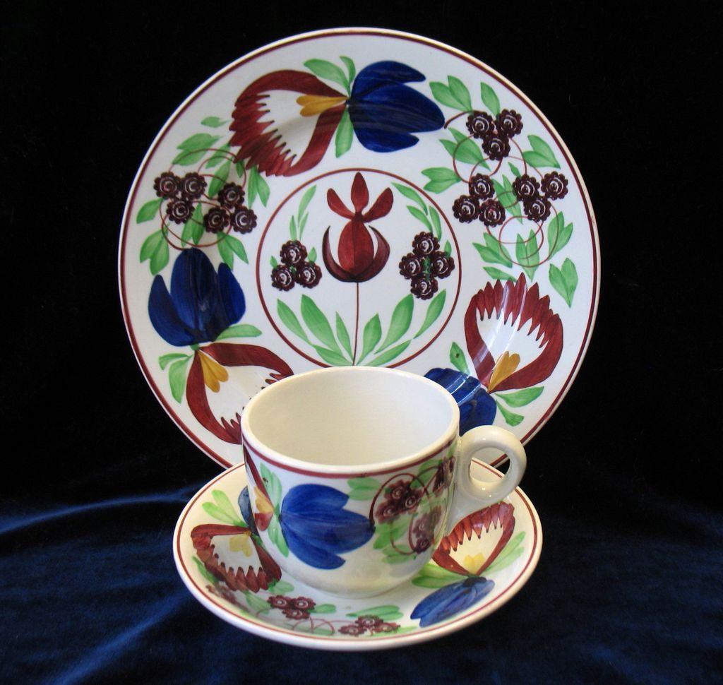 gaudy stick spatter plate cup saucer set villeroy boch. Black Bedroom Furniture Sets. Home Design Ideas