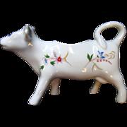 Vintage BIA Cordon Bleu Figural Cow Creamer Floral France