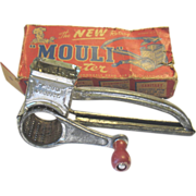 Vintage Mouli Rotary Grater Hand Held Crank 1948