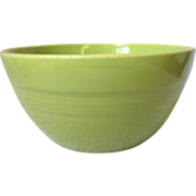 Old Homer Laughlin Harlequin Chartreuse Bowl 36s Small