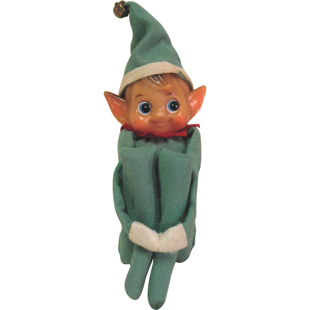 Vintage Christmas Musical Chimes Knee Hugger Pixie Elf Japan