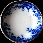 Antique Flow Blue VERMONT  Fruit Sauce Bowl (s)  Burgess & Leigh Burslem England