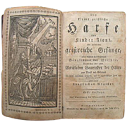 Die Kleine Geistliche Harfe 1803 Mennonite German Hymnal Germantown Pa Billmeyer FE Book