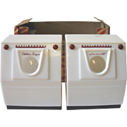Vintage Advertising Salt & Pepper Shakers Westinghouse Washing Machine & Dryer Washer Laundromat