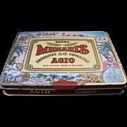 Vintage Cigar Tin AGIO Mehari's Holland 50 Senoritas  Colorful With Clasp