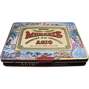 Vintage Cigar Tin AGIO Mehari's Holland 50 Senoritas  Colorful With Clasp