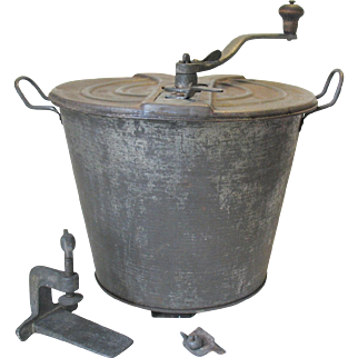 Antique Universal Bread Maker Dough Mixer NO. 4 Landers Frary & Clark Complete Tin Steel