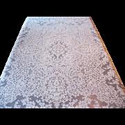 Vintage Lace Tablecloth 60 x 76 Flowers