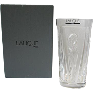Lalique Muses High Ball Tumbler Glass Chope Boxed Muse Women Femmes Panels