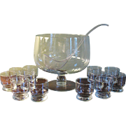 Princess House Heritage Punch Bowl Set 14 Piece Boxed With 12 Cups
