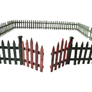"Vintage Large Feather Christmas Tree Wood Fence Putz Village 36"" Square"