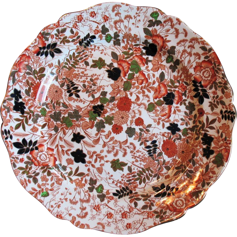 "Royal Cauldon BITTERSWEET Large 15"" Chop Plate Serving Platter Round X2500"