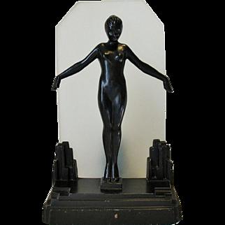 Art Deco Antique FRANKART Original Nude Lamp Complete Working