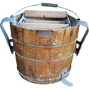 Old Wood Wringer Mop Bucket With Foot Wringer Richmond Cedar Works