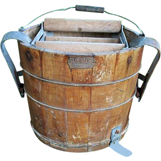 Old Wood Wringer Mop Bucket With Foot Wringer Richmond Cedar Works