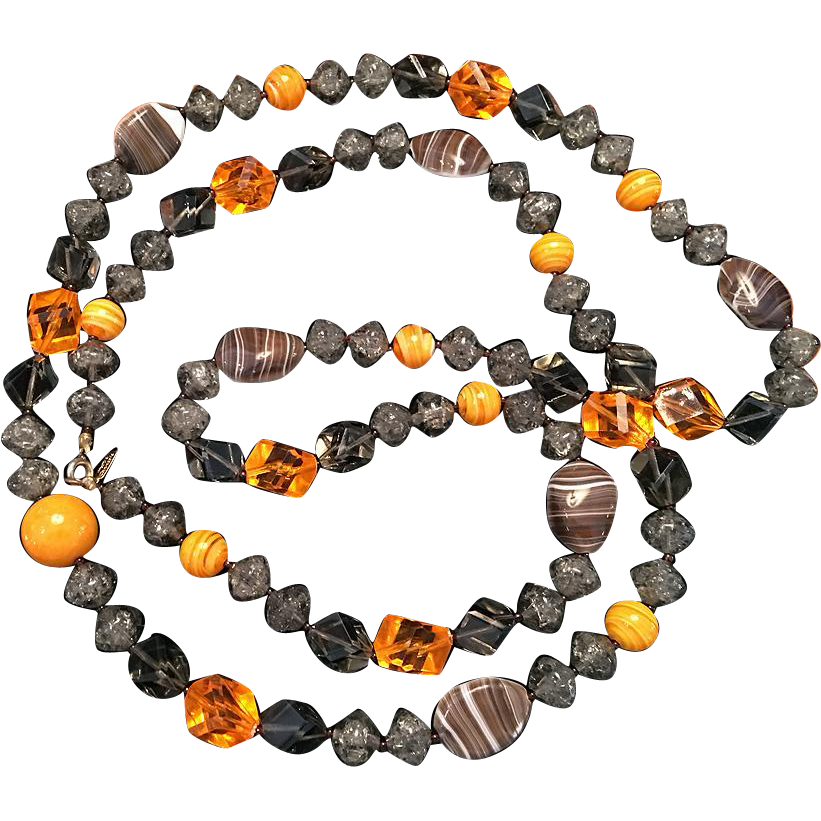 Vintage Hattie Carnegie Glass Necklace