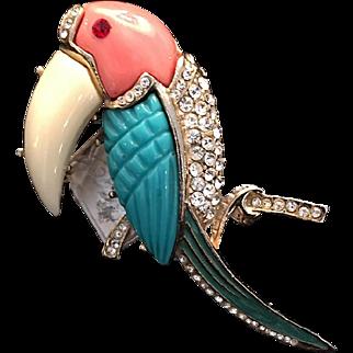 Vintage Hattie Carnegie Toucan Brooch