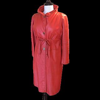 Bonnie Cashion Orange Leather Coat