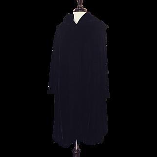 Black Antique Velvet Opera Coat