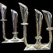 Mid-Century Silver Candelabras - SALE 40% OFF