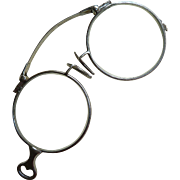 Vintage Sterling 10K White Gold Folding Pince-Nez