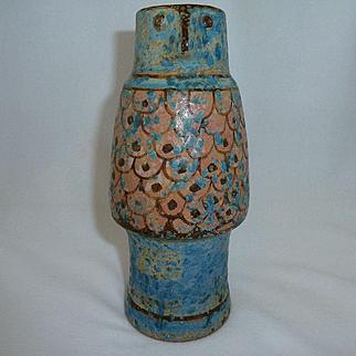 Karlsruhe Figural Art Pottery Face Vase