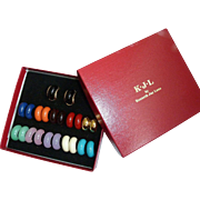 Kenneth J Lane Multi Color 11 Pair Earring Set