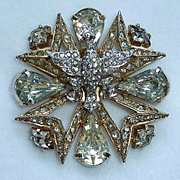 Eisenberg Eagle Rhinestone Brooch Pin Vintage