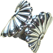 Alfredo Villasana Sterling Silver Large Hinge Bracelet
