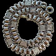 "10K Rose Gold  Victorian Book Chain Bracelet 8"""
