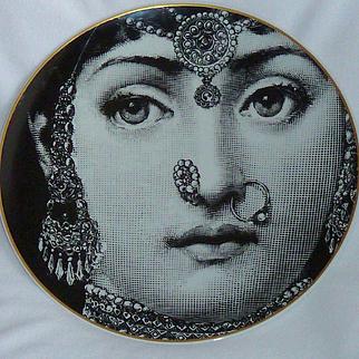 Fornasetti For Rosenthal Julia Plate