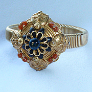 Miriam Haskell Medallion Stretch Bracelet