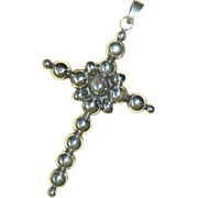Aguilar Sterling Silver Bubble Cross Vintage