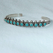 Navajo Sterling Turquoise Bracelet Bell Trading Co