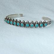 Navajo Sterling Turquoise Bracelet Bell Trading Co
