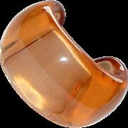 Large Vintage Lucite Peach Cuff Bracelet