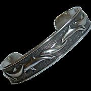 Sterling Dolphin Cuff Bracelet