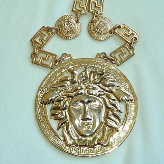Versace Medusa Necklace Belt Vintage